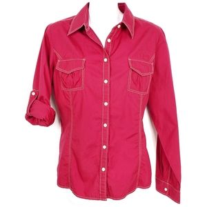 TOMMY HILFIGER | Poplin Button Long Sleeve Shirt M